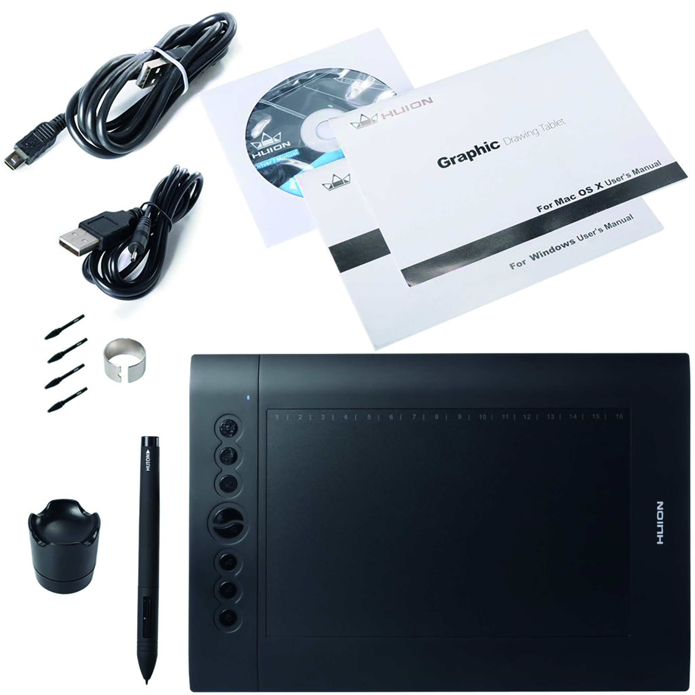 Advantageous template preparation on the PC: Huion Graphics Tablet H610 pro