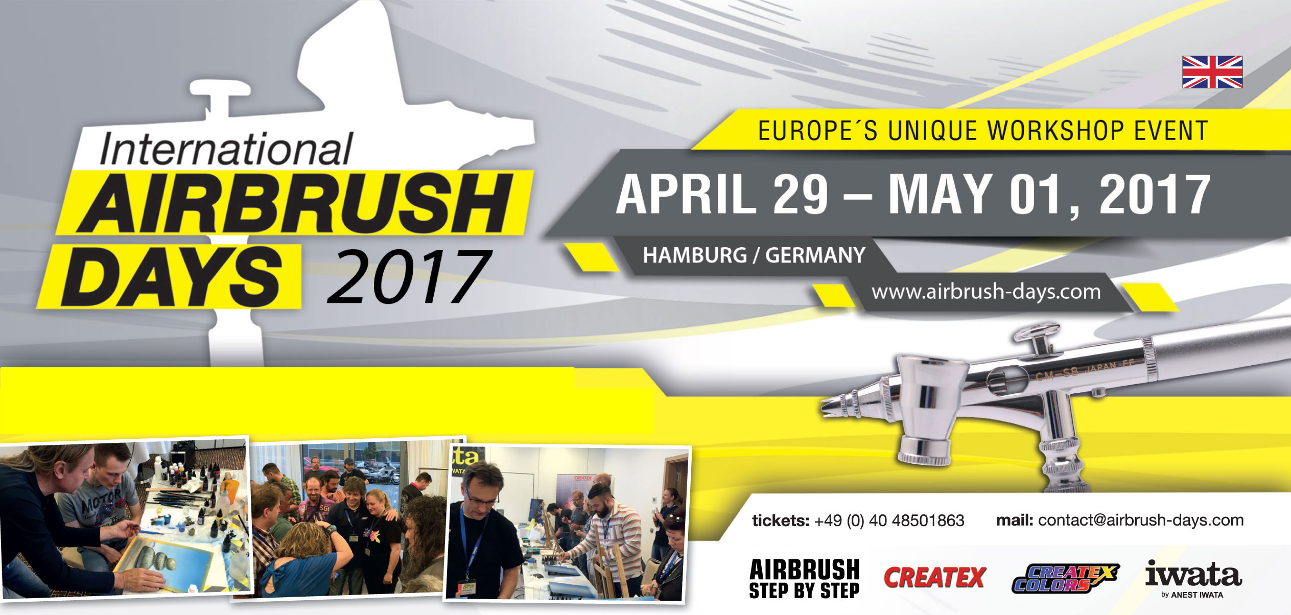 Last few tickets for the International Airbrush Days 2017