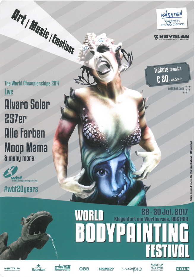 20 Years of World Bodypainting Festival now with a new Location