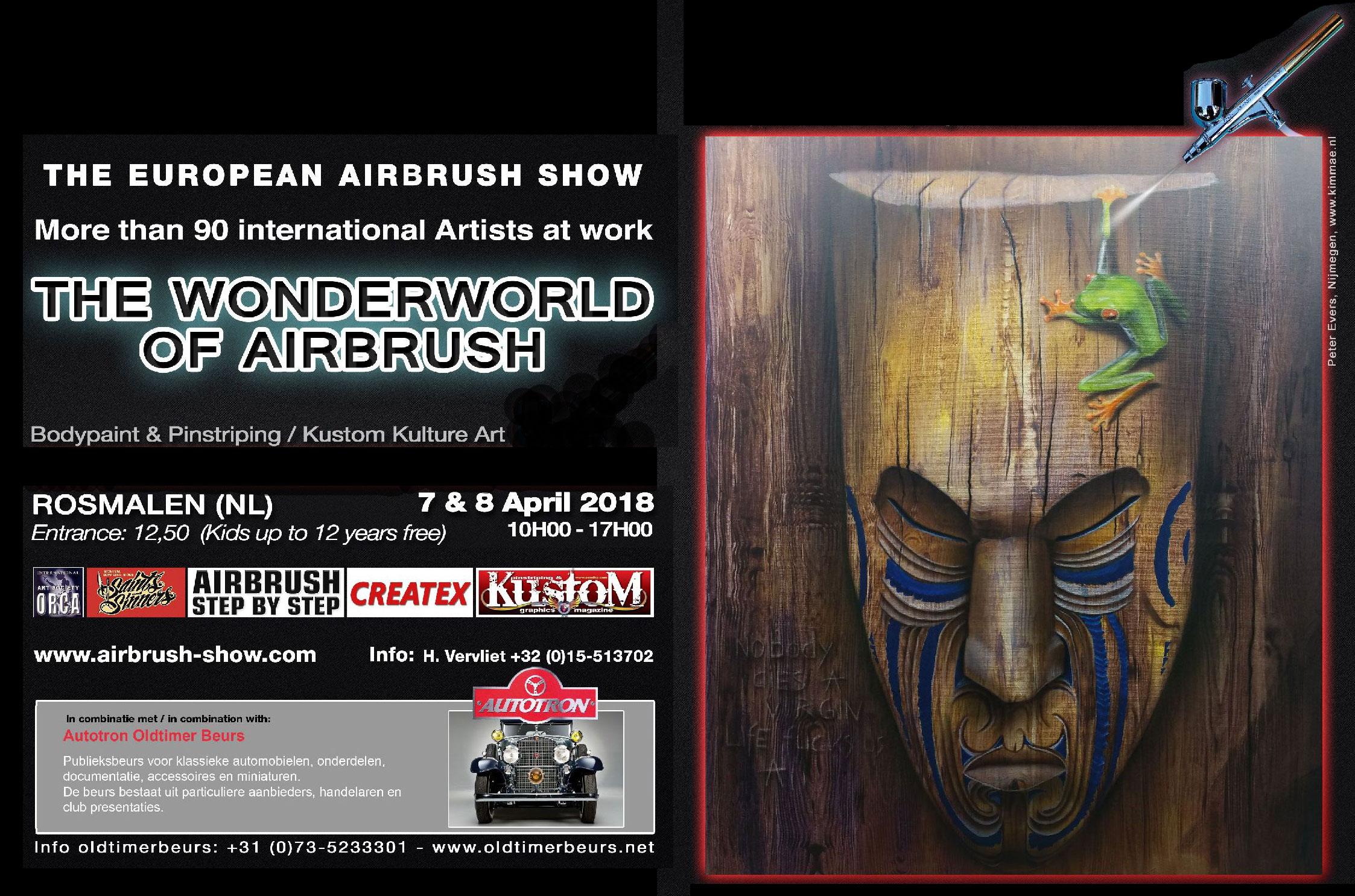 The Wonderworld of Airbrush in Rosmalen: Airbrush meets Kustom Kulture Art