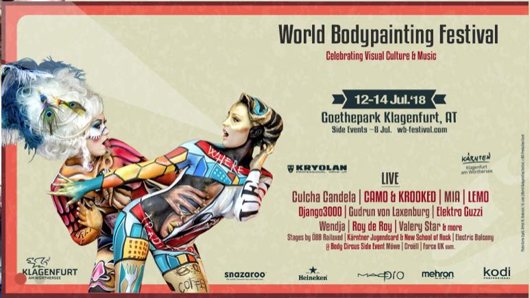 21 Years World Bodypainting Festival in Klagenfurt am Wörthersee, Austria