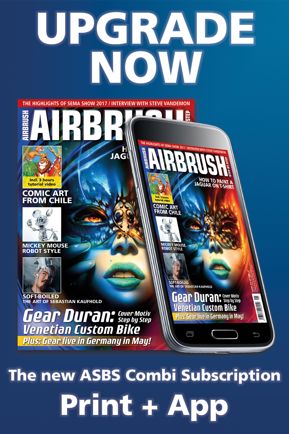 Upgrade now for the ASBS Combi subscription Print + App