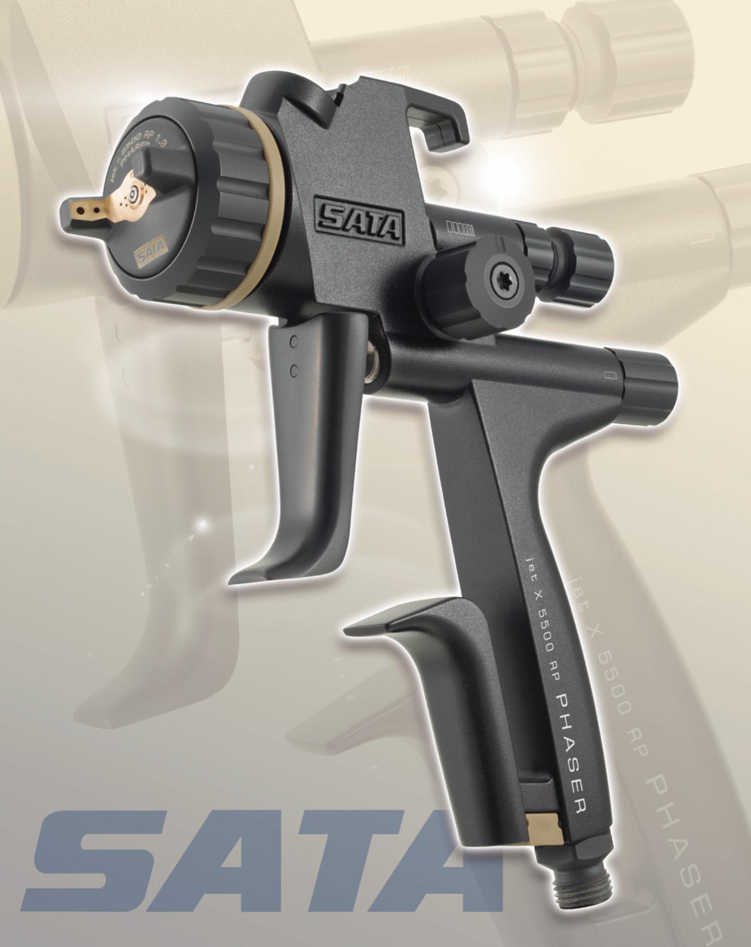 SATAjet X 5500 PHASER: Futuristic gun for varnishing pros
