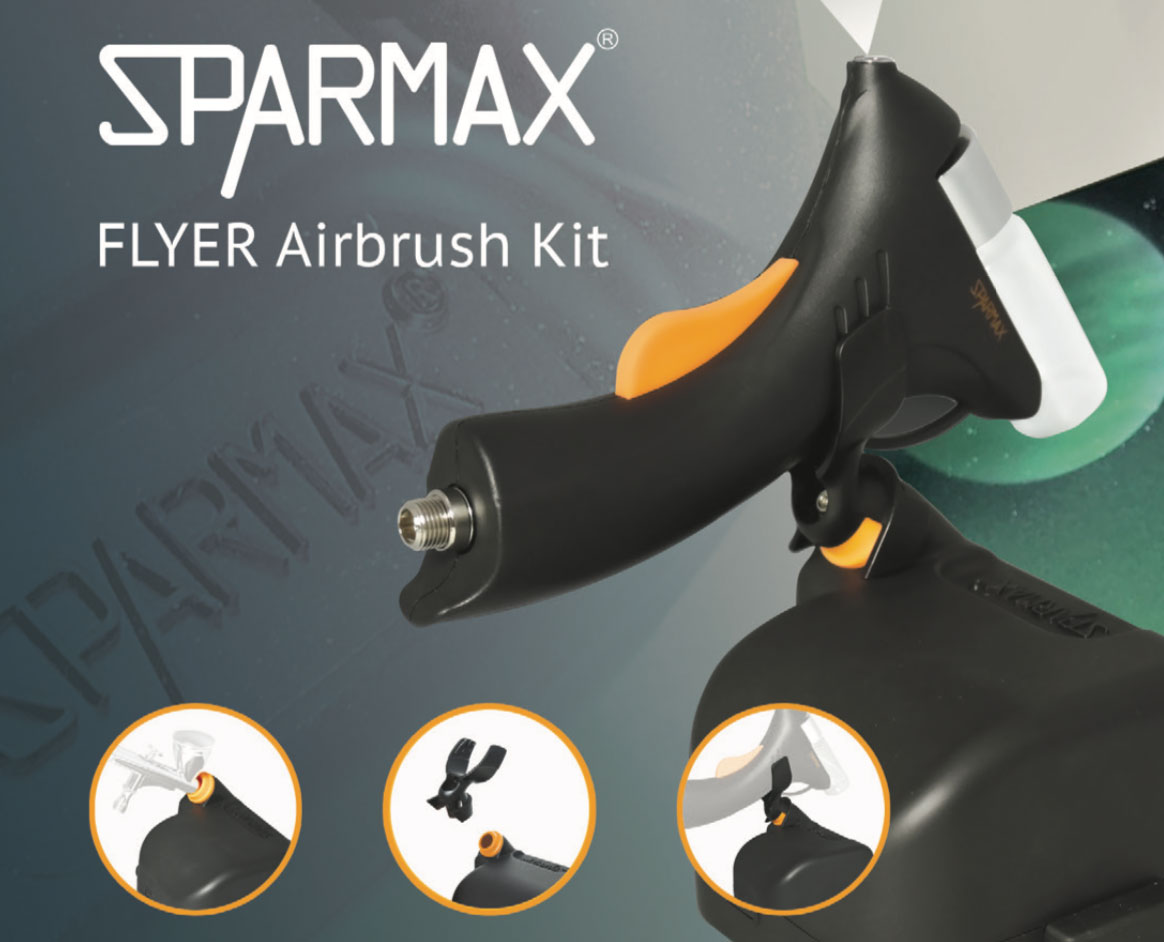 Sparmax Flyer Airbrush Kit: The duo for an easy start