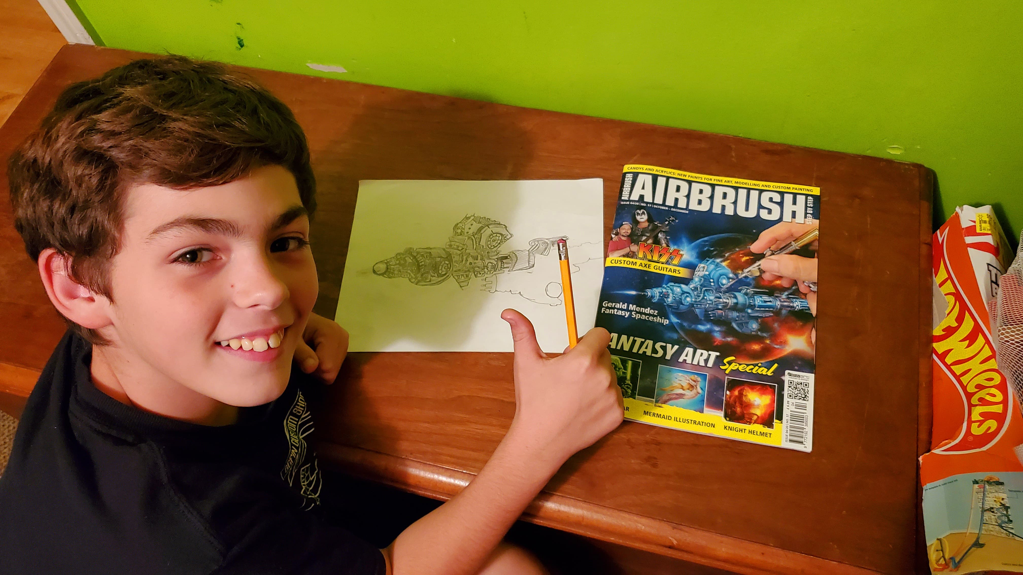 Airbrush Step by Step magazine: Inspiration even for the little ones