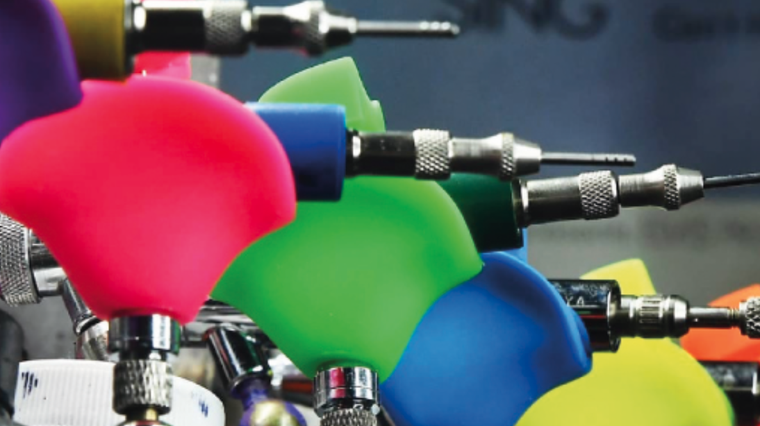 Trigger Happy: Tireless work and precise airbrush control