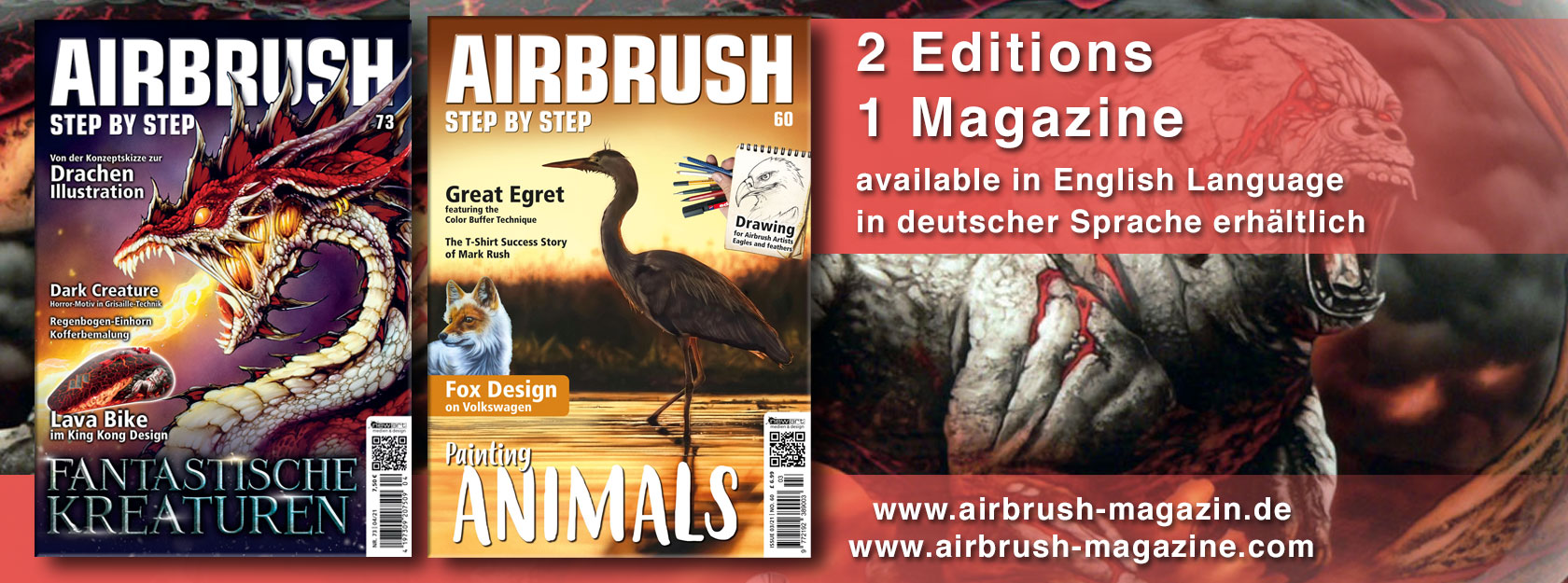 Two editions of Airbrush Step by Step magazine: How does it work?