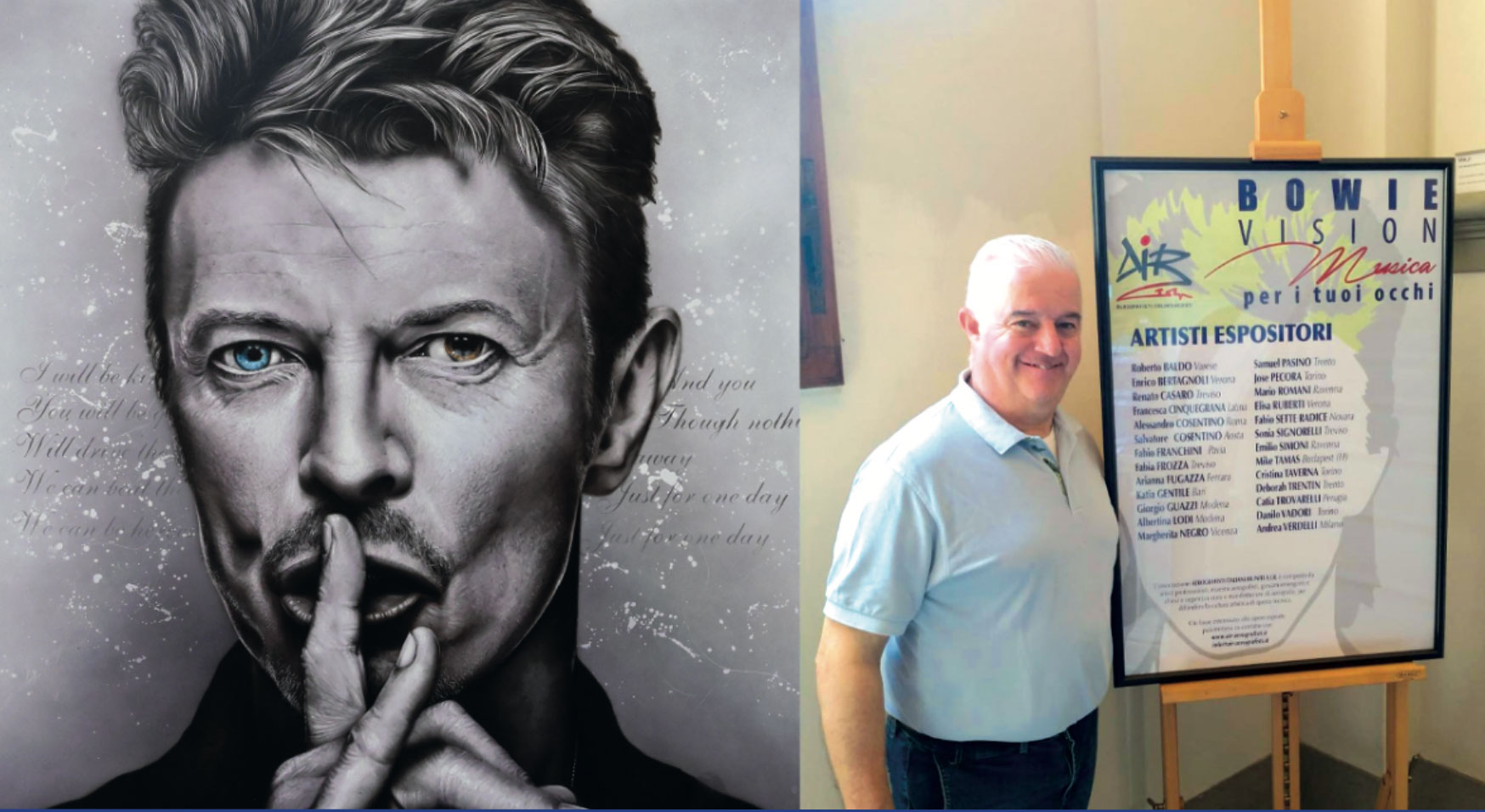 Bowie Vision: Italian Airbrush artists tribute to David Bowie