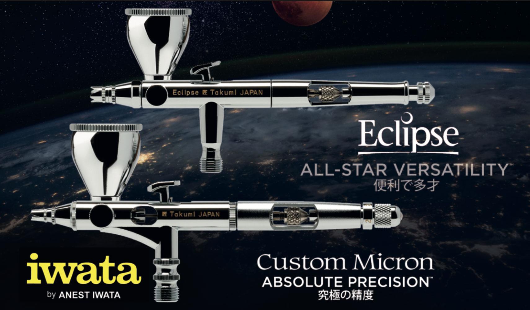 Iwata Takumi: The new side feed airbrushes